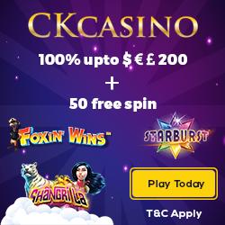 CKcasino Free spins 4